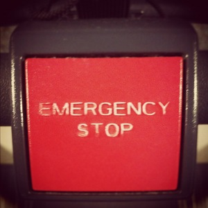 loopband stopknop emergency