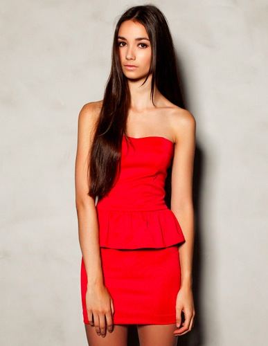 red dress pull and bear